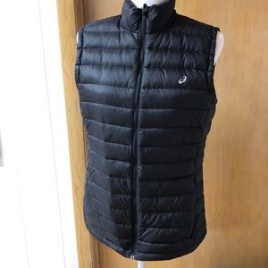 ASICS feather and down puffer vest